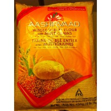 Ashirwad whole wheat Atta -  (20 Lbs)